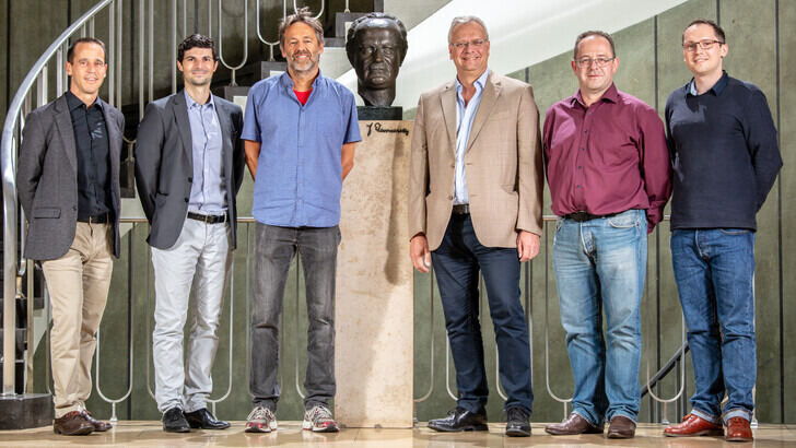 ICMEaix core team members, from left to right: Sebastian Münstermann, Christian Haase, Markus Apel, Georg. J. Schmitz, Alexander Bezold, Lukas Koschmieder